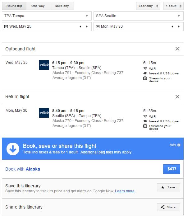 Google Flights 3