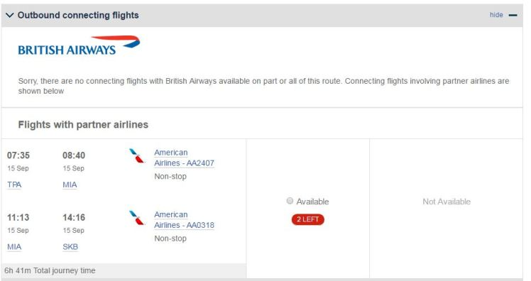 BA St Kitts Flights - AYP