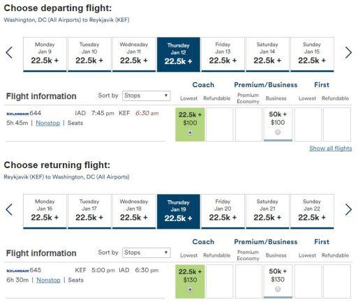 Flight Options Iceland Air - AYP