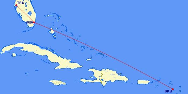 Flight Path to St Kitts