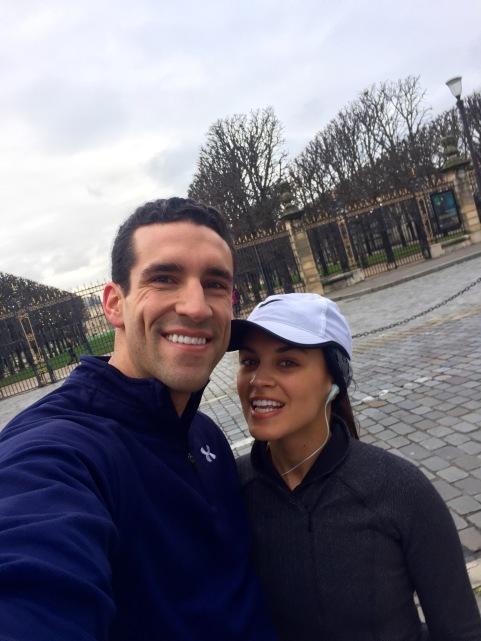 Mal and Der run selfie - Paris - AYP