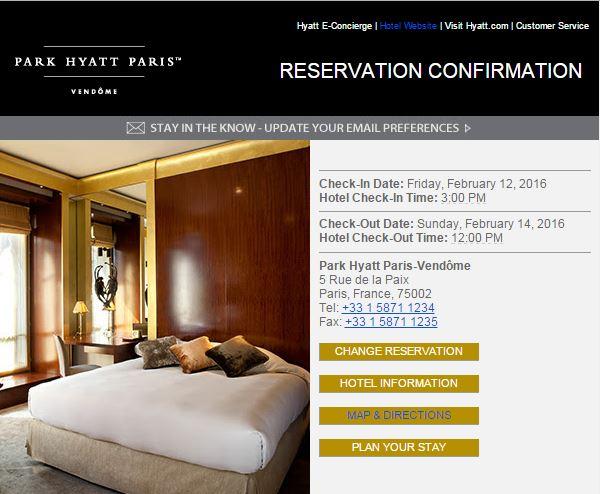 Park Hyatt Confirm