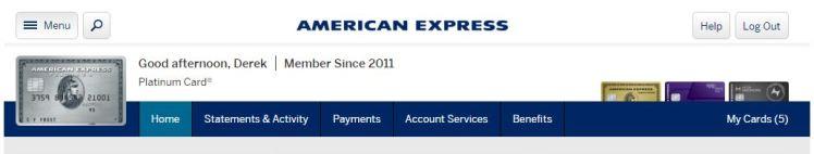 Amex Online Profile - AYP