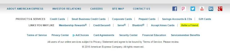 Amex Refer a Friend - AYP