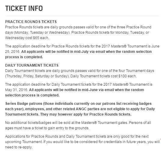 Ticket Info for 2017 - AYP