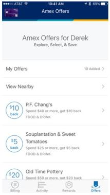 Amex Offer Mobile