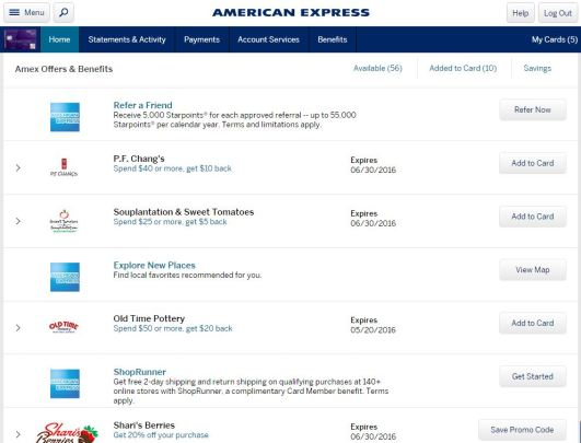 Amex Offers Pic