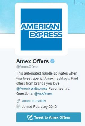Amex Offers Twitter
