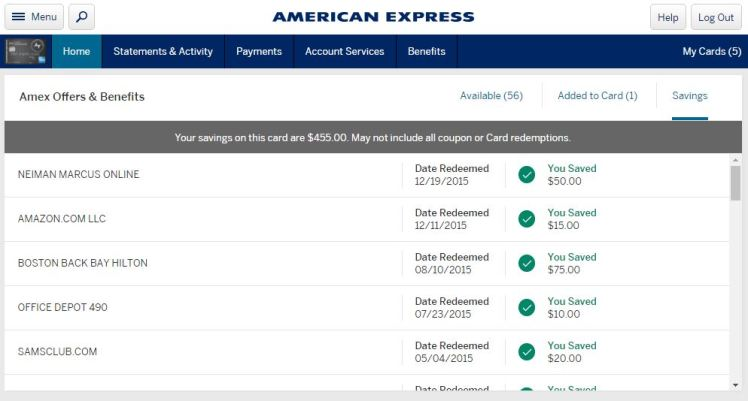 Amex Surpass Offers Savings
