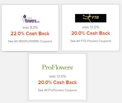 Ebates flower offers