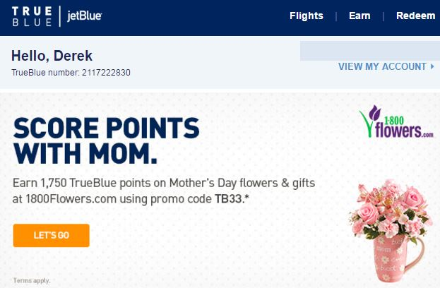 Jet Blue Mothers Day
