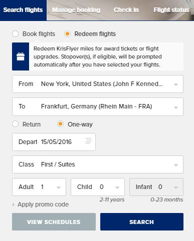 Redeem Flights