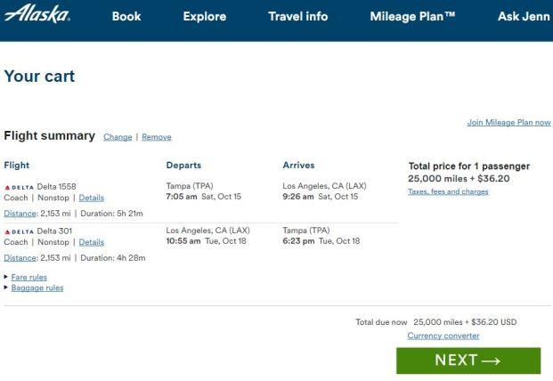 Alaska Airlines Website
