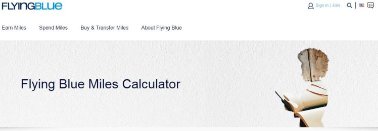 Flying Blue Miles Calculator - AYP