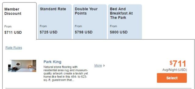 Park Hyatt NYC Paid Rate - AYp