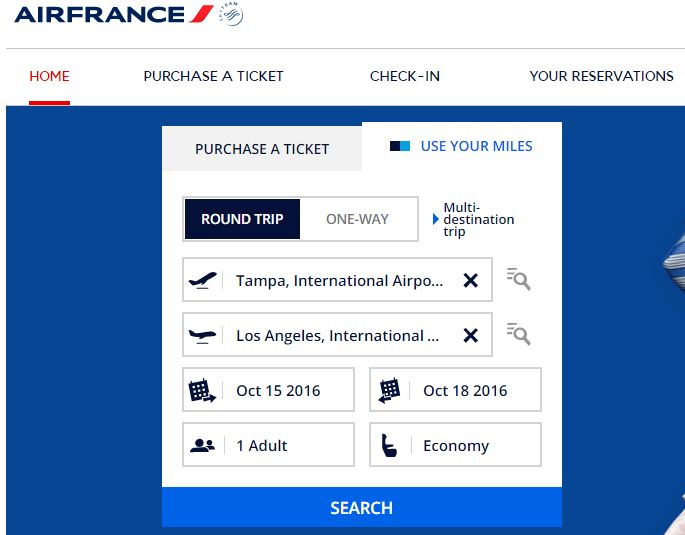 Use Your Miles - Air France Award Search.JPG