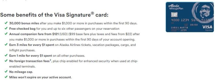 Alaska Airlines Visa Signature Card - AYP