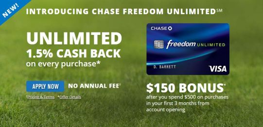 Chase Freedom Unlimited - AYP