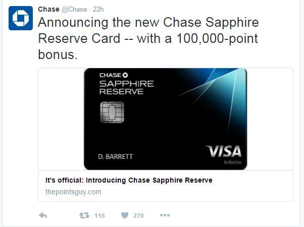 CSR Chase Tweet